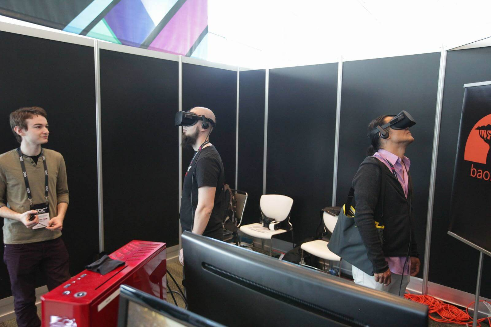 Virtual reality allows providing trade show visitors lively experience and showing more products.